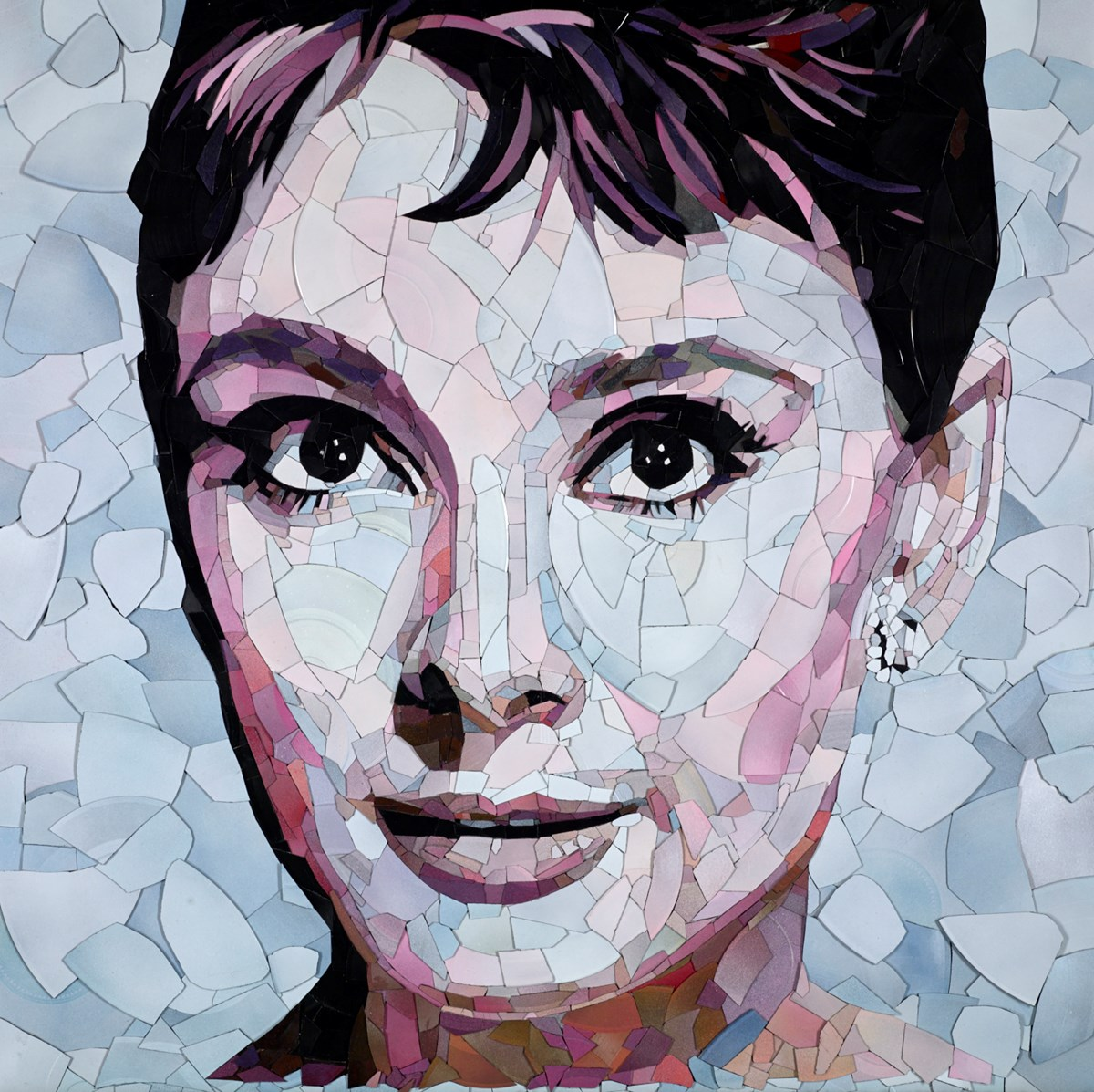 Audrey Hepburn by ed chapman -  sized 34x34 inches. Available from Whitewall Galleries